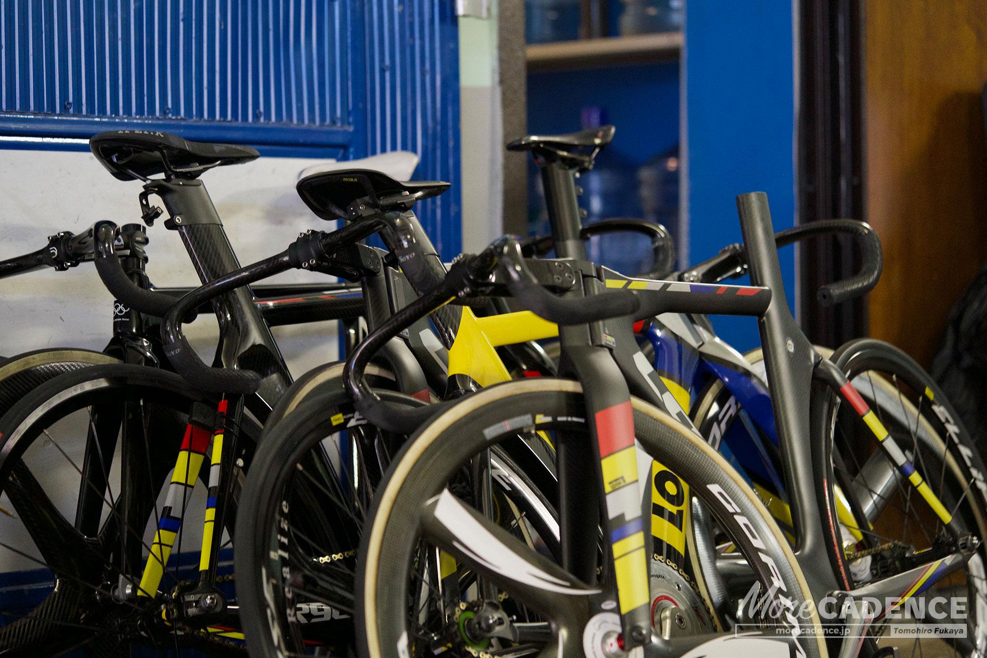 日本代表チームの自転車