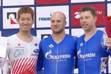 脇本雄太が準優勝、ドミトリエフ優勝&パーキンス3位/モスクワグランプリ2018・男子スプリント