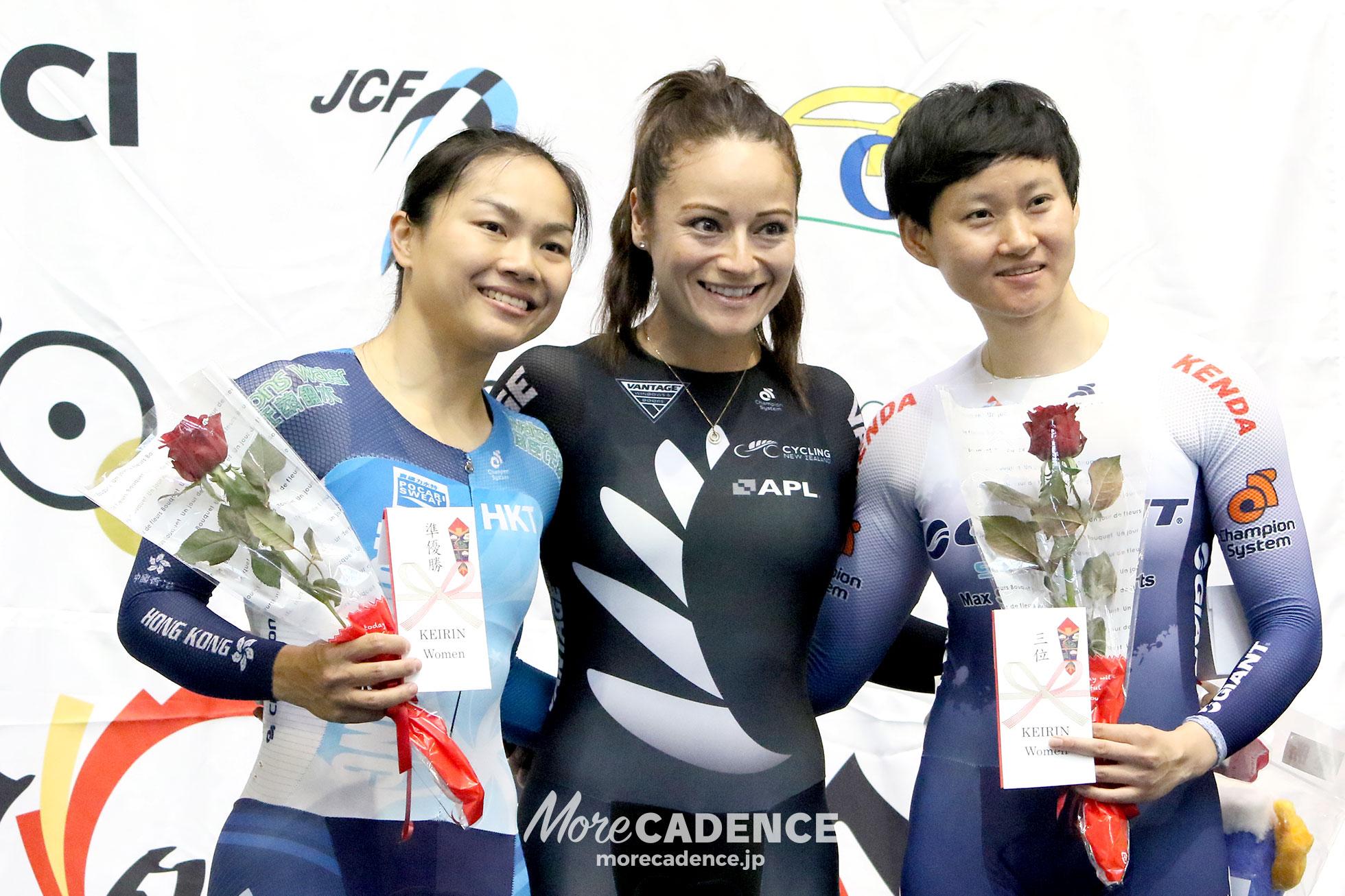 2018ジャパントラックカップⅡ 女子ケイリン 表彰式