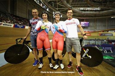 ボイノワのロシアが連覇、女子チームスプリント/UECトラックヨーロッパ選手権2018