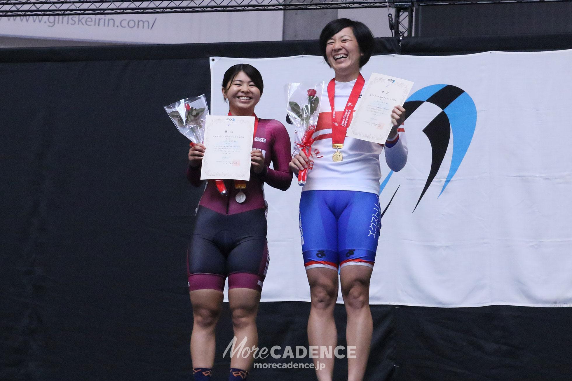 2018全日本選手権トラック女子500mTT表彰台