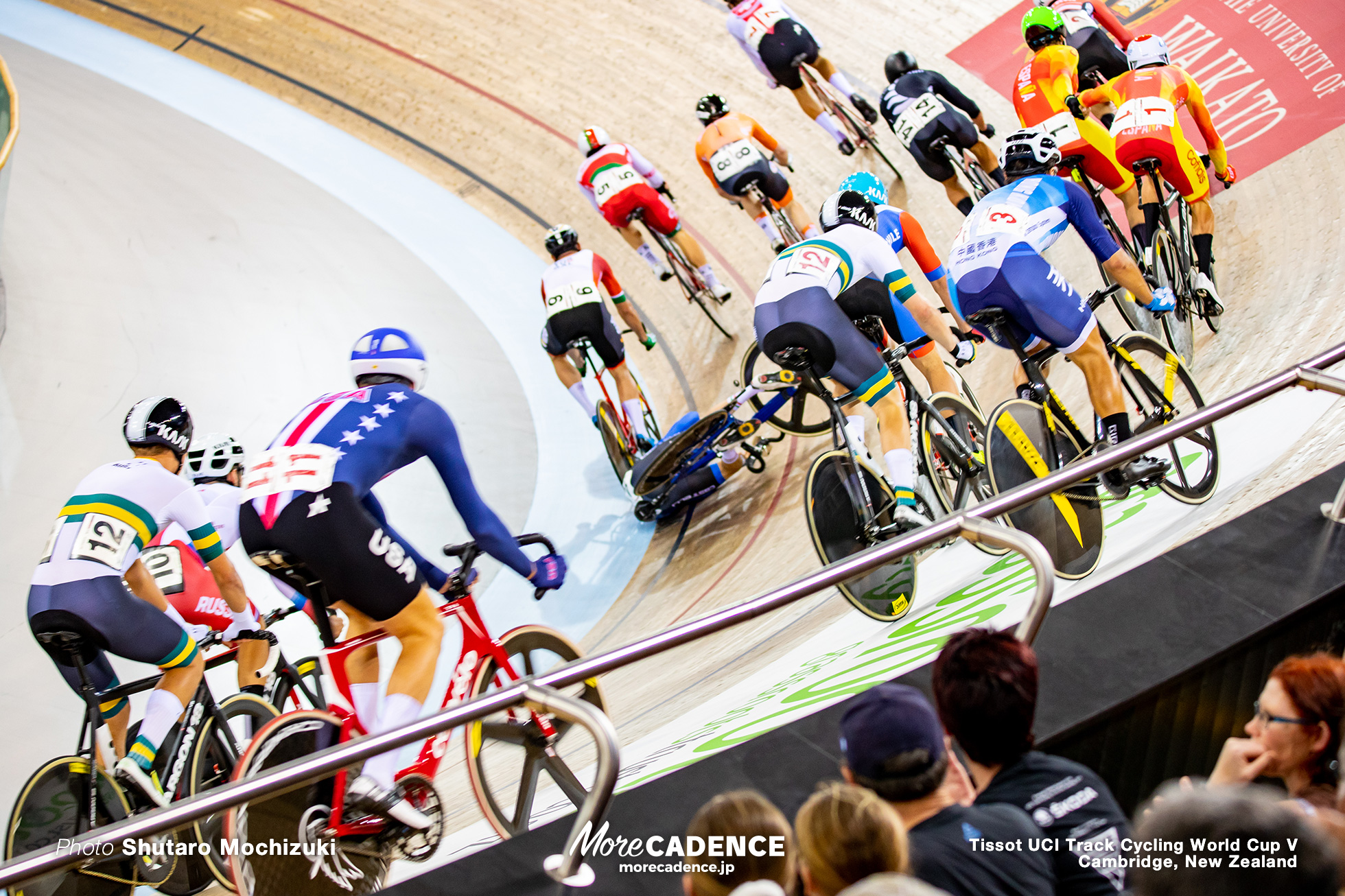 Men's Madison / Track Cycling World Cup V / Cambridge, New Zealand