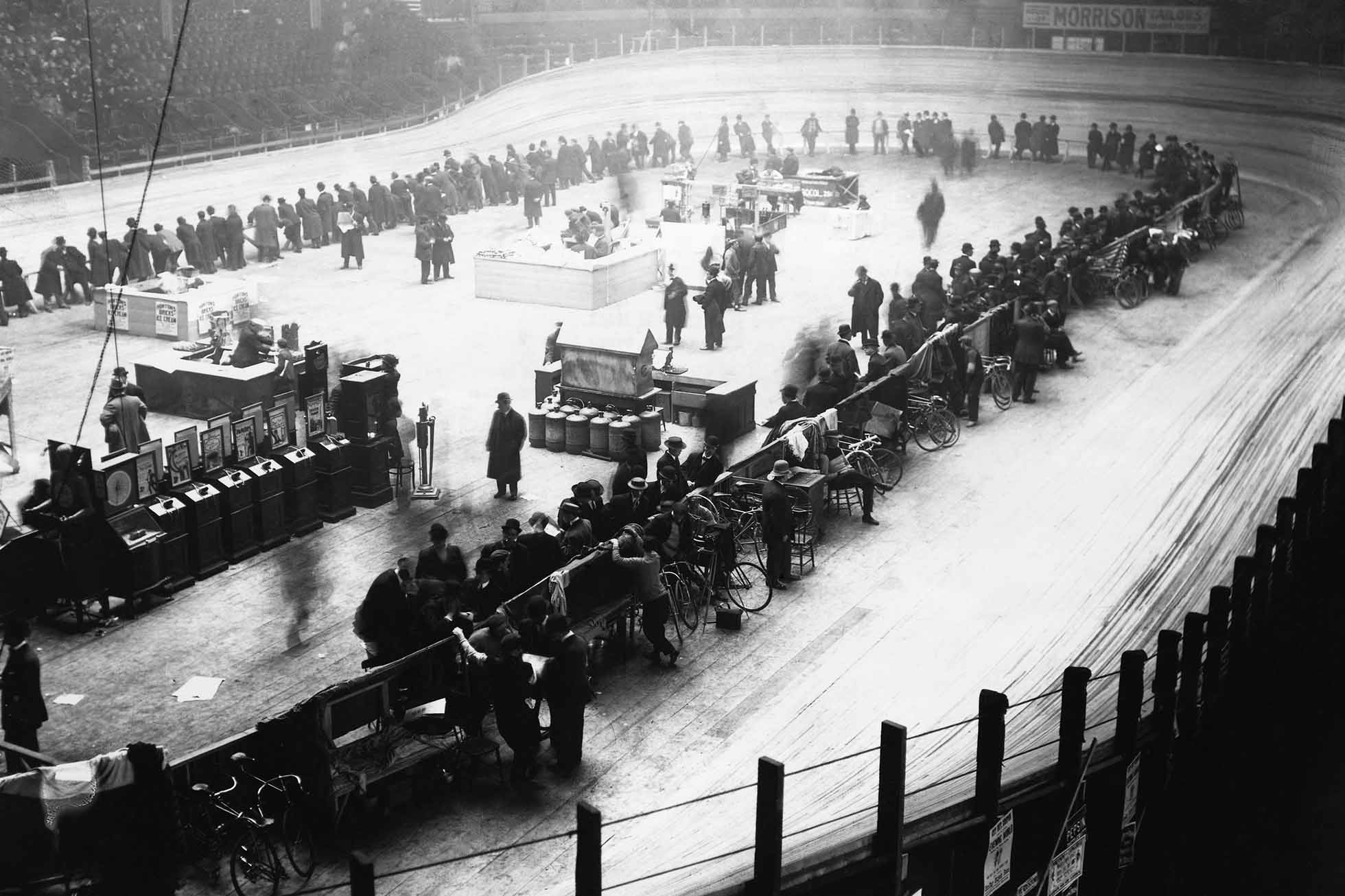 Early Bicycle Race in Madison Square Garden