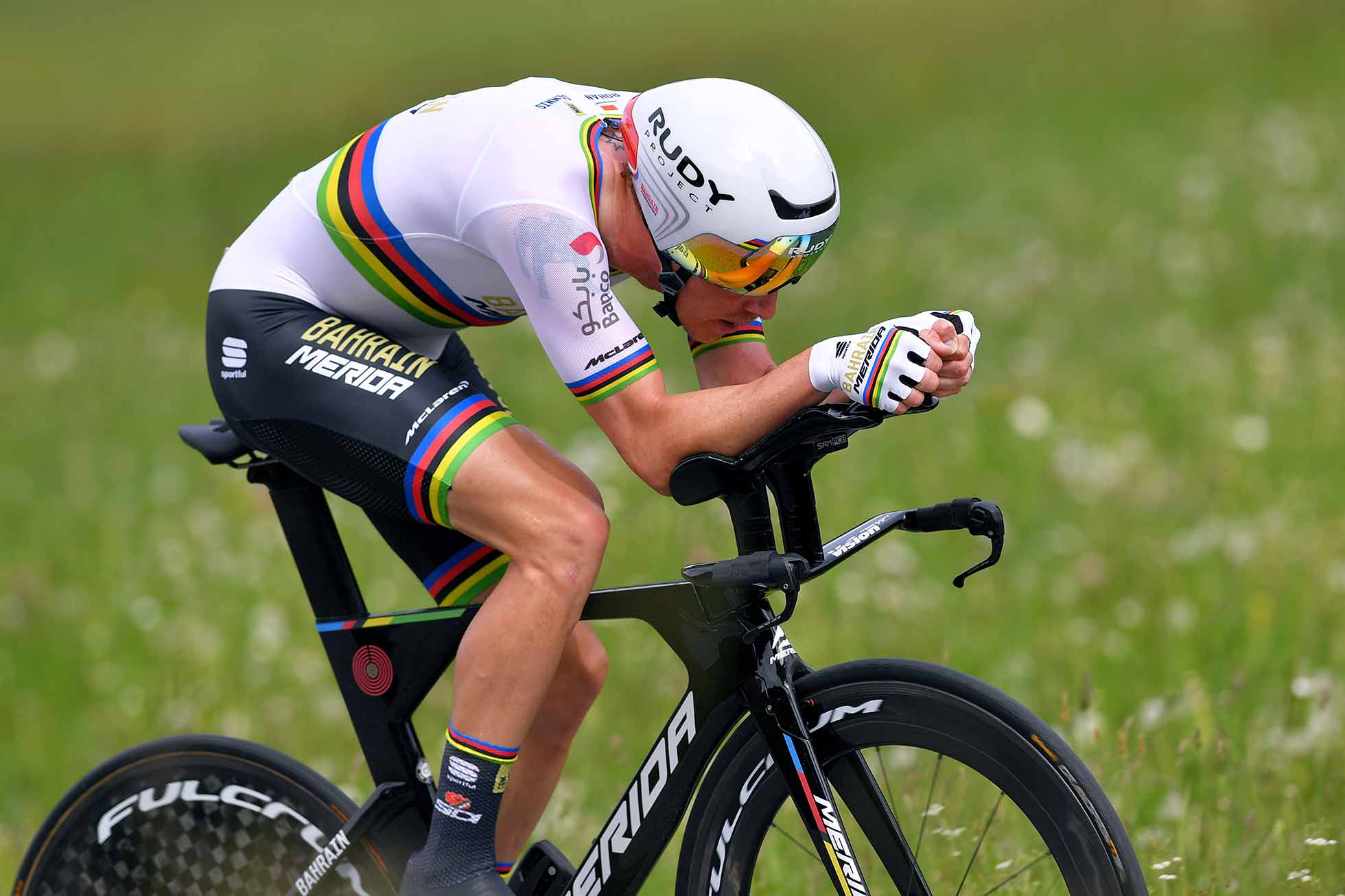 ULTRICHEN, SWITZERLAND - JUNE 22: Rohan Dennis of Australia and Team Bahrain - Merida / during the 83rd Tour of Switzerland, Stage 8 a 19,2km Individual Time Trial stage from Ulrichen-Goms to Ulrichen-Goms / ITT / TDS / @tds / #tourdesuisse / on June 22, 2019 in Ulrichen, Switzerland. (Photo by Tim de Waele/Getty Images)