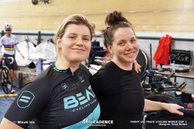 「いや、自転車が無い(笑)」バベク、ボス、デグレンデレら海外選手の様子/2019-2020トラックワールドカップ第2戦イギリス