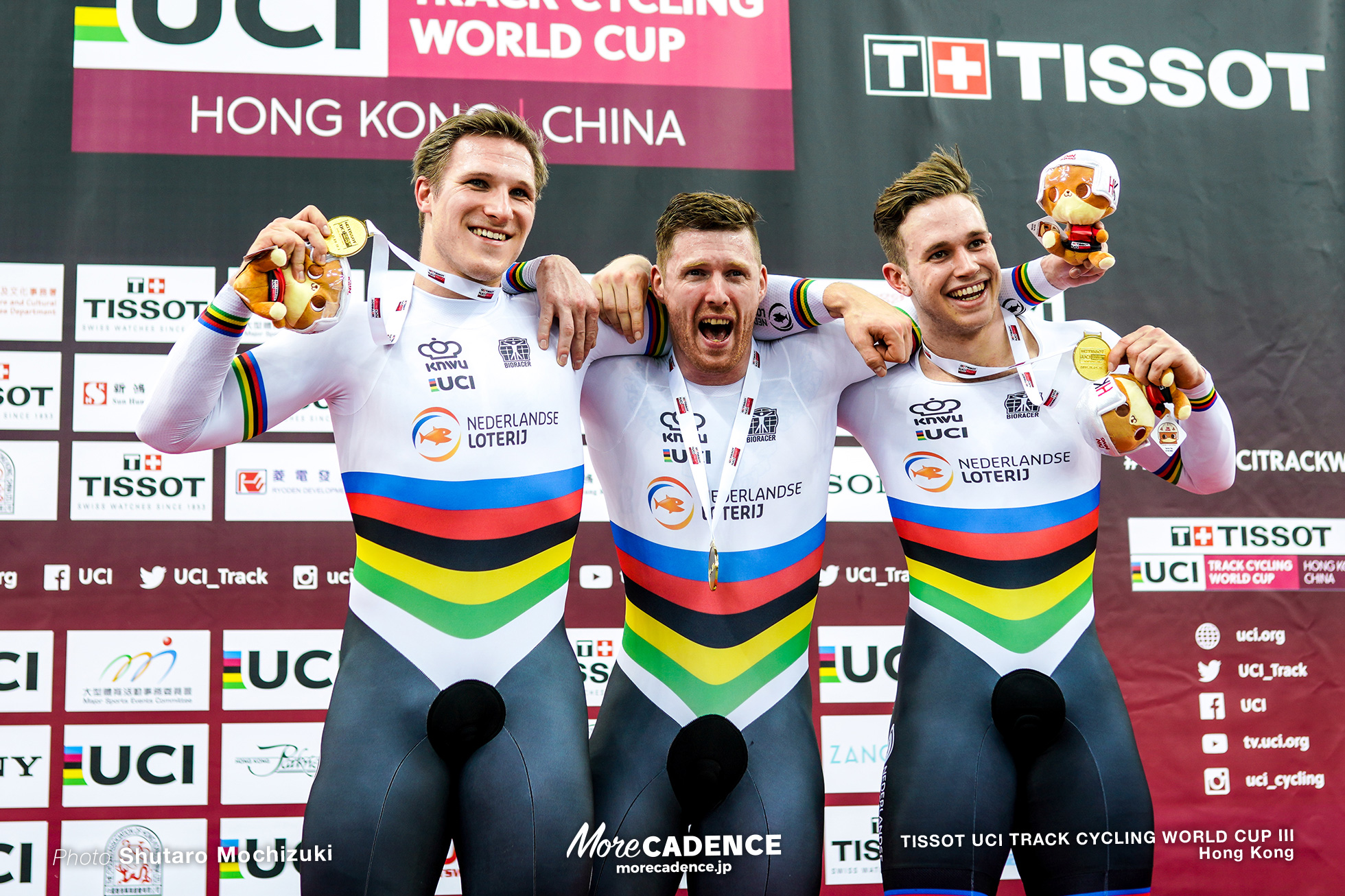 Final / Men's Team Sprint / TISSOT UCI TRACK CYCLING WORLD CUP III, Hong Kong, Jeffrey HOOGLAND ジェフリー・ホーフラント Harrie LAVREYSEN ハリー・ラブレイセン Roy van den BERG ロイ・バンデンバーグ