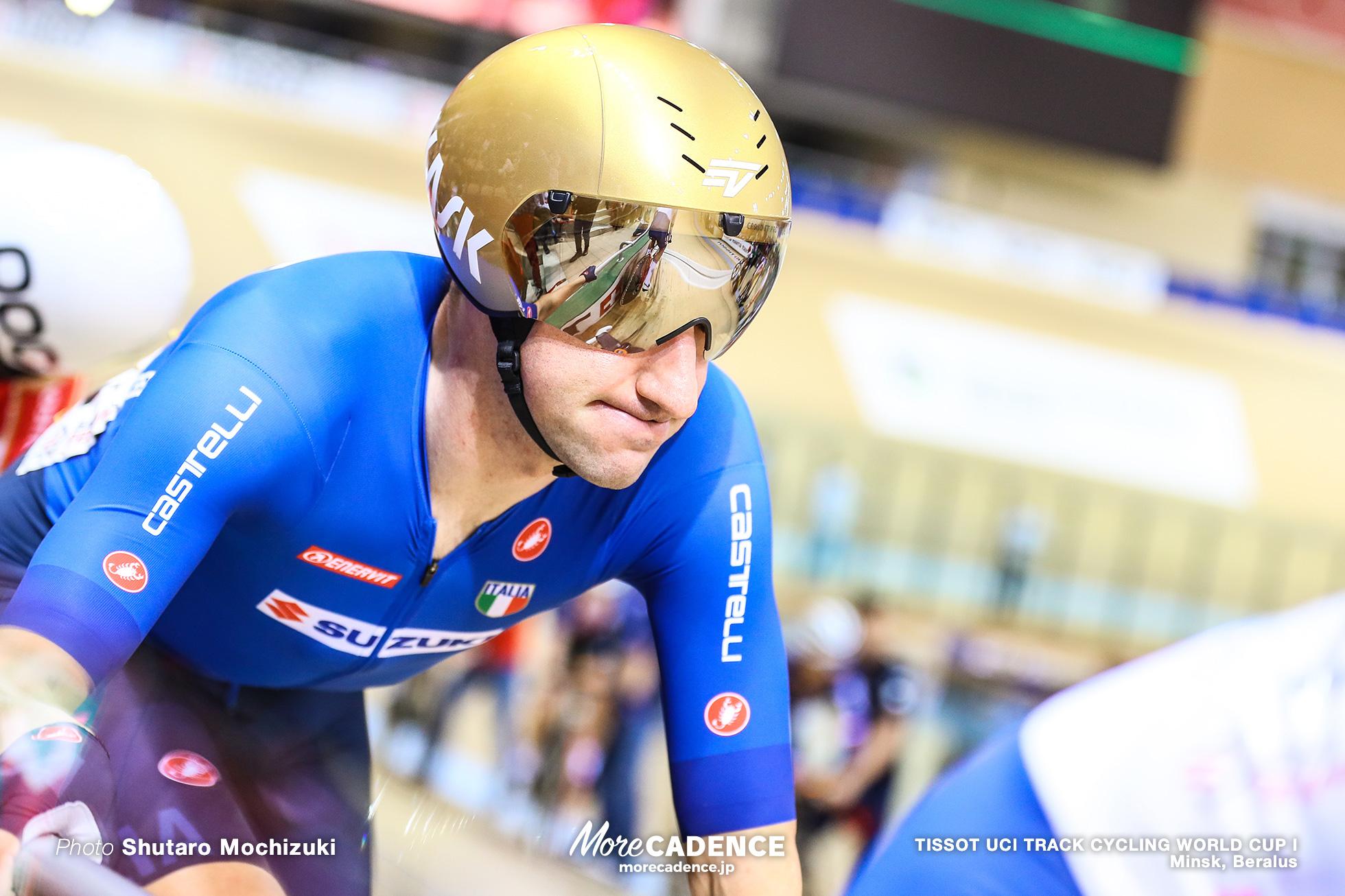 Elia Viviani (ITA), Point Race / Men's Omnium / TISSOT UCI TRACK CYCLING WORLD CUP I, Minsk, Beralus