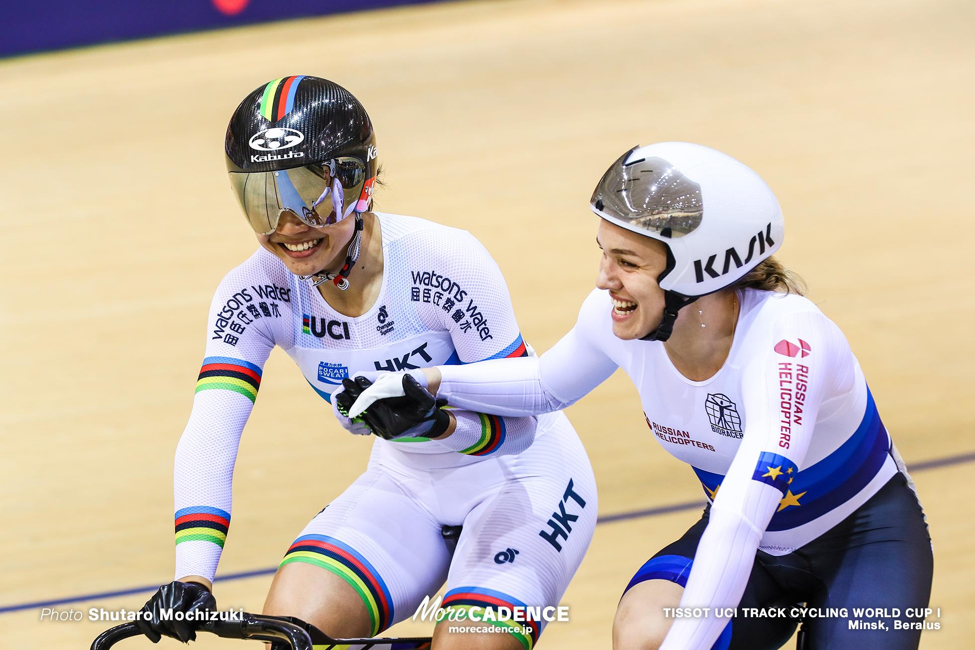 Final / Women's Sprint / TISSOT UCI TRACK CYCLING WORLD CUP I, Minsk, Beralus