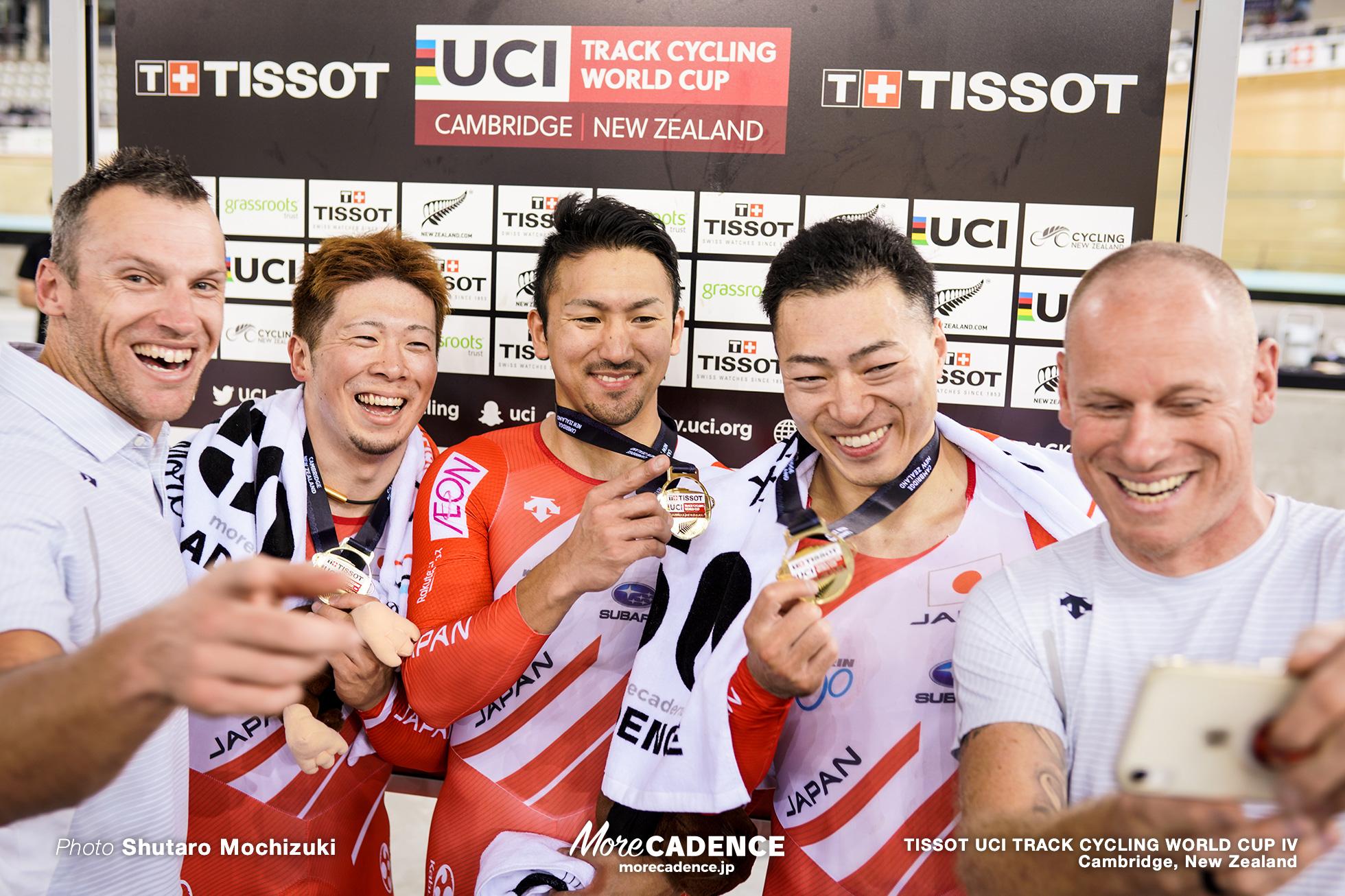 Final / Men's Team Sprint / TISSOT UCI TRACK CYCLING WORLD CUP IV, Cambridge, New Zealand, 深谷知広 新田祐大 雨谷一樹 ブノワ・ベトゥ ジェイソン・ニブレット