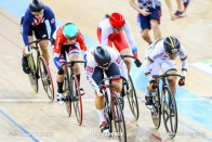 1st Round / Women's Keirin / TISSOT UCI TRACK CYCLING WORLD CUP III, Hong Kong, LEE Wai Sze リー・ワイジー 李慧詩 Lauriane GENEST ロリアン・ジェネスト Laurine van RIESSEN ロリーヌ・ファンリーセン Natalia ANTONOVA ナタリア・アントノバ Mandy MARQUARDT マンディ・マーカート