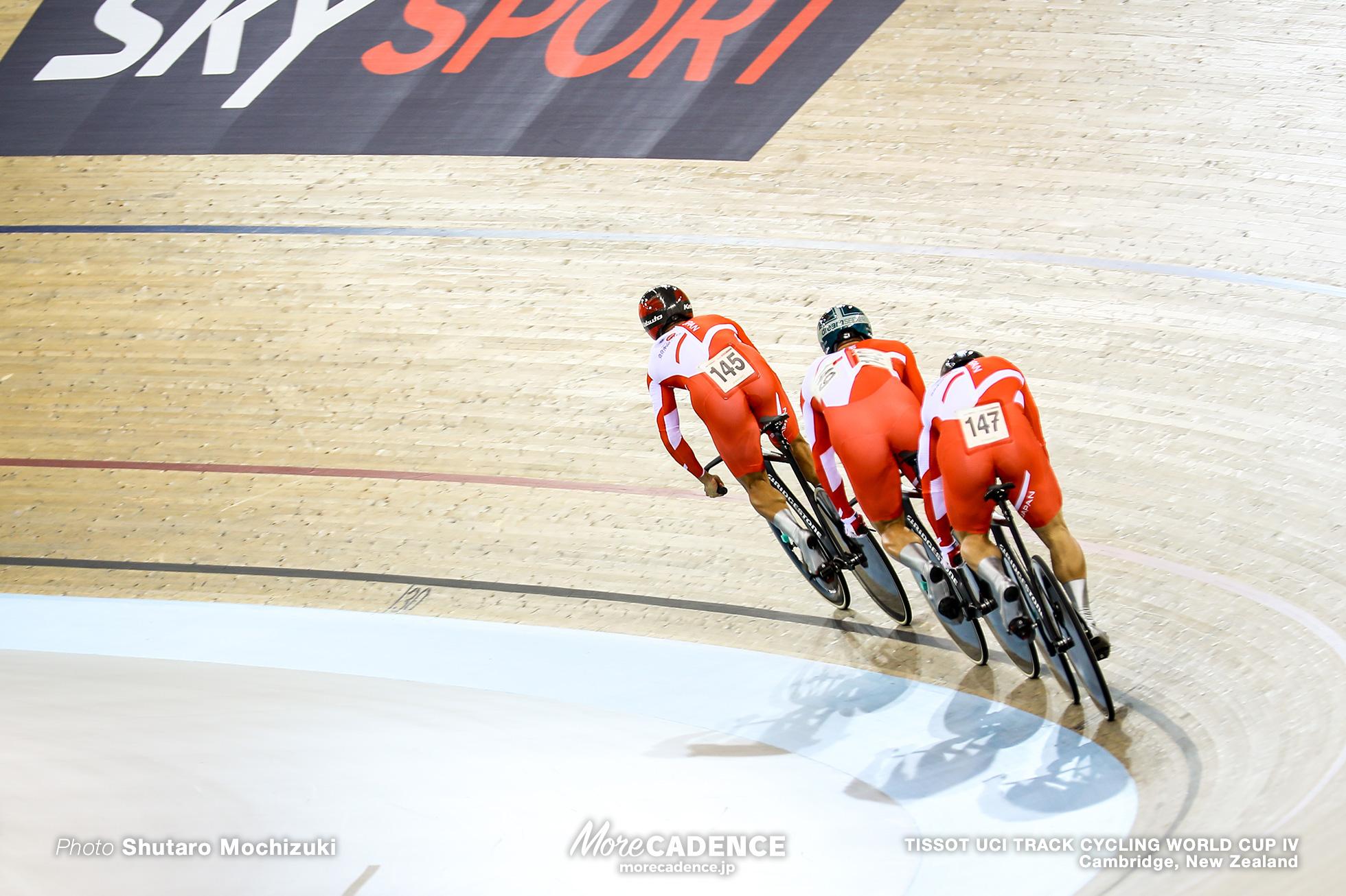 Qualifying / Men's Team Sprint / TISSOT UCI TRACK CYCLING WORLD CUP IV, Cambridge, New Zealand, 深谷知広 新田祐大 雨谷一樹