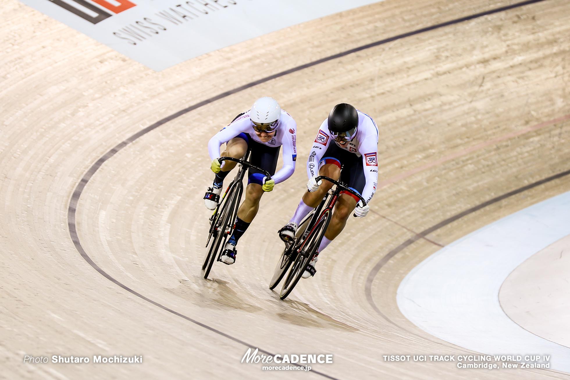 Final / Women's Sprint / TISSOT UCI TRACK CYCLING WORLD CUP IV, Cambridge, New Zealand, Anastasiia VOINOVA アナスタシア・ボイノワ Kelsey MITCHELL ケルシー・ミシェル