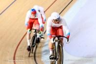 Qualifying / Men's Team Sprint / TISSOT UCI TRACK CYCLING WORLD CUP V, Brisbane, Australia, Shane Alan PERKINS シェーン・パーキンス Nikita SHURSHIN ニキータ・シュルシン Pavel YAKUSHEVSKIY パベル・ヤクシェフスキー