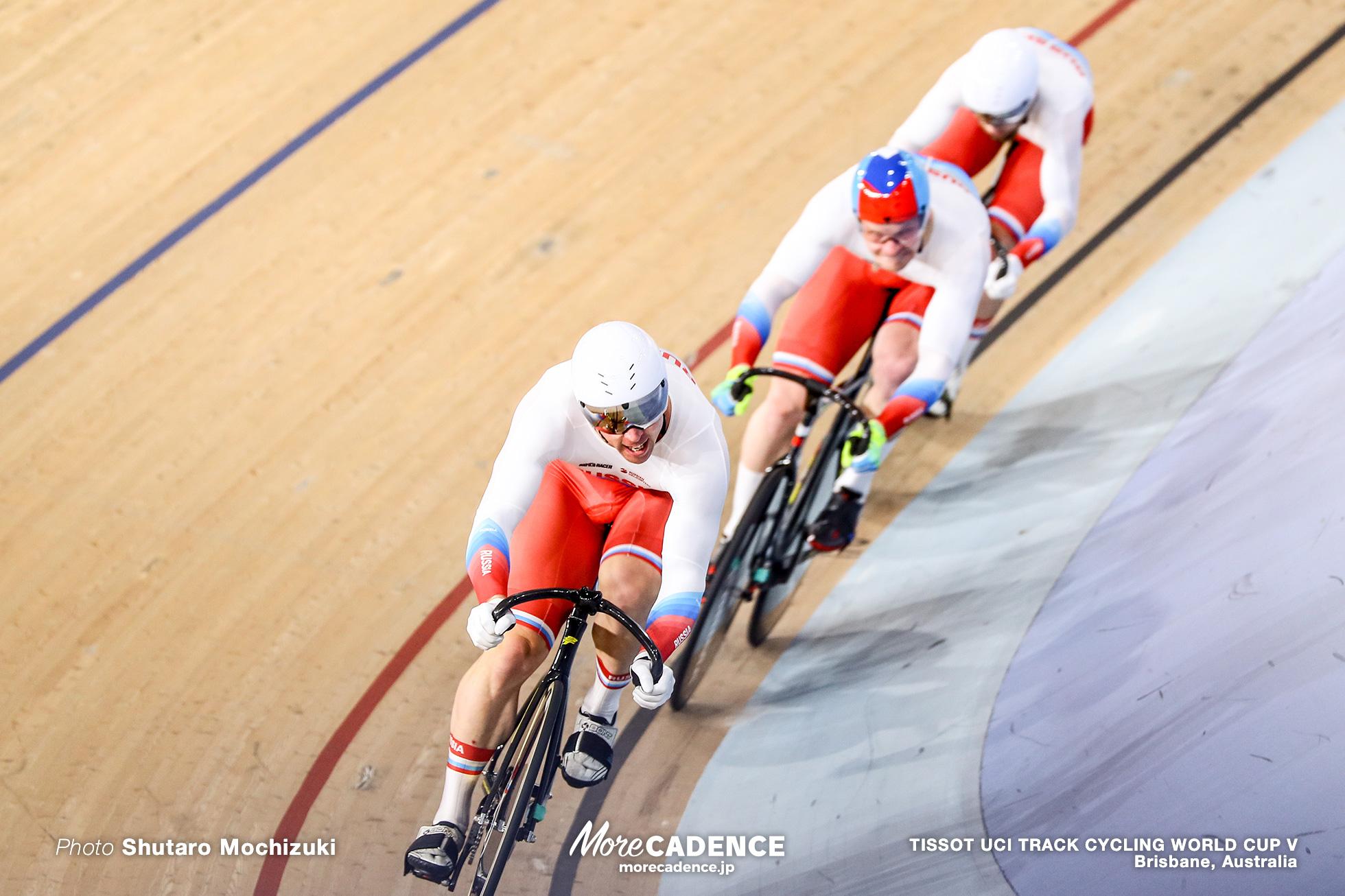 1st Round / Men's Team Sprint / TISSOT UCI TRACK CYCLING WORLD CUP V, Brisbane, Australia, Shane Alan PERKINS シェーン・パーキンス Nikita SHURSHIN ニキータ・シュルシン Pavel YAKUSHEVSKIY パベル・ヤクシェフスキ