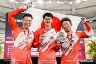 Men's Team Sprint / TISSOT UCI TRACK CYCLING WORLD CUP IV, Cambridge, New Zealand, 新田祐大 長迫吉拓 深谷知広
