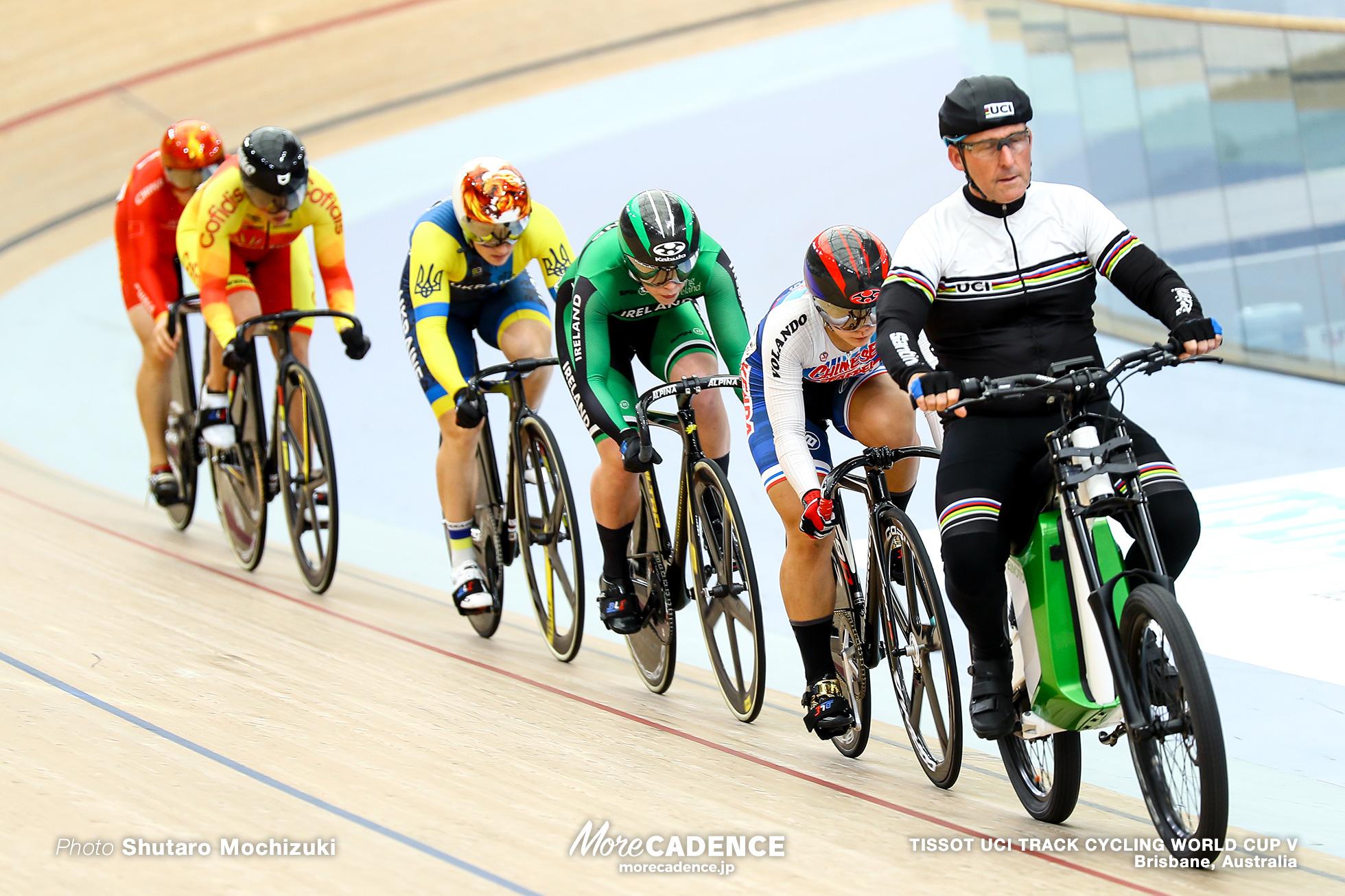 Repechage / Women's Keirin / TISSOT UCI TRACK CYCLING WORLD CUP V, Brisbane, Australia, Liubov BASOVA リウボヴ・バソワ WANG Tzu Chun Helena CASAS ROIGE エレナ・カサス・ロイエ Robyn STEWART ロビン・スチュワート LIN Junhong