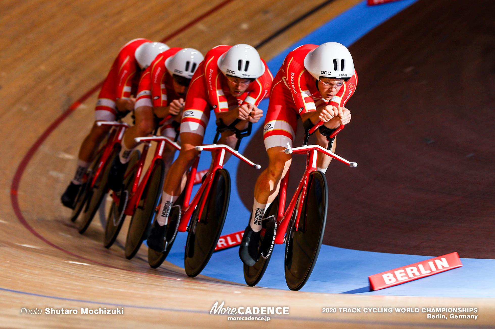 1st Round / Men's Team Pursuit / 2020 Track Cycling World Championships /スイス Switzerland/ ステファン・ビッセガー Stefan Bissegger, ロビン・フロイドボー Robin Froidevaux, クラウディオ・イムホフ Claudio Imhof, ルーカス・リュエッグ Lukas RUEGG