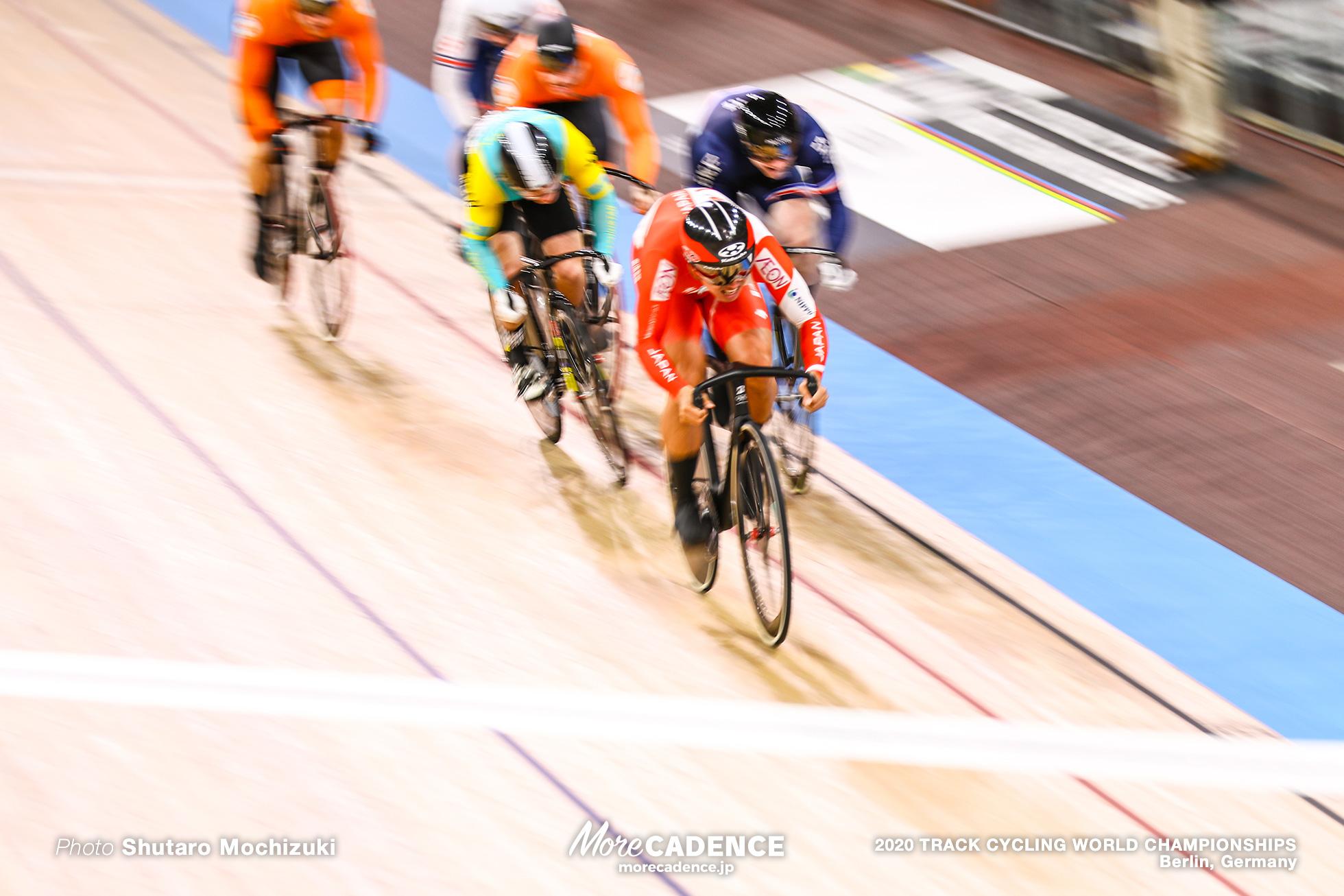 Semi Final / Men's Keirin / 2020 Track Cycling World Championships, Wakimoto Yuta 脇本雄太, Sergey Ponomaryov セルゲイ・ポノマリョフ, Sebastien Vigier セバスチャン・ビジエ