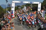 91st UCI Road World Championships 2018 - Men Elite Road Race INNSBRUCK, AUSTRIA - SEPTEMBER 30: Peloton / Landscape / Fans / Public / during the Men Elite Road Race a 258,5km race from Kufstein to Innsbruck 582m at the 91st UCI Road World Championships 2018 / RR / RWC / on September 30, 2018 in Innsbruck, Austria. (Photo by Tim de Waele/Getty Images)