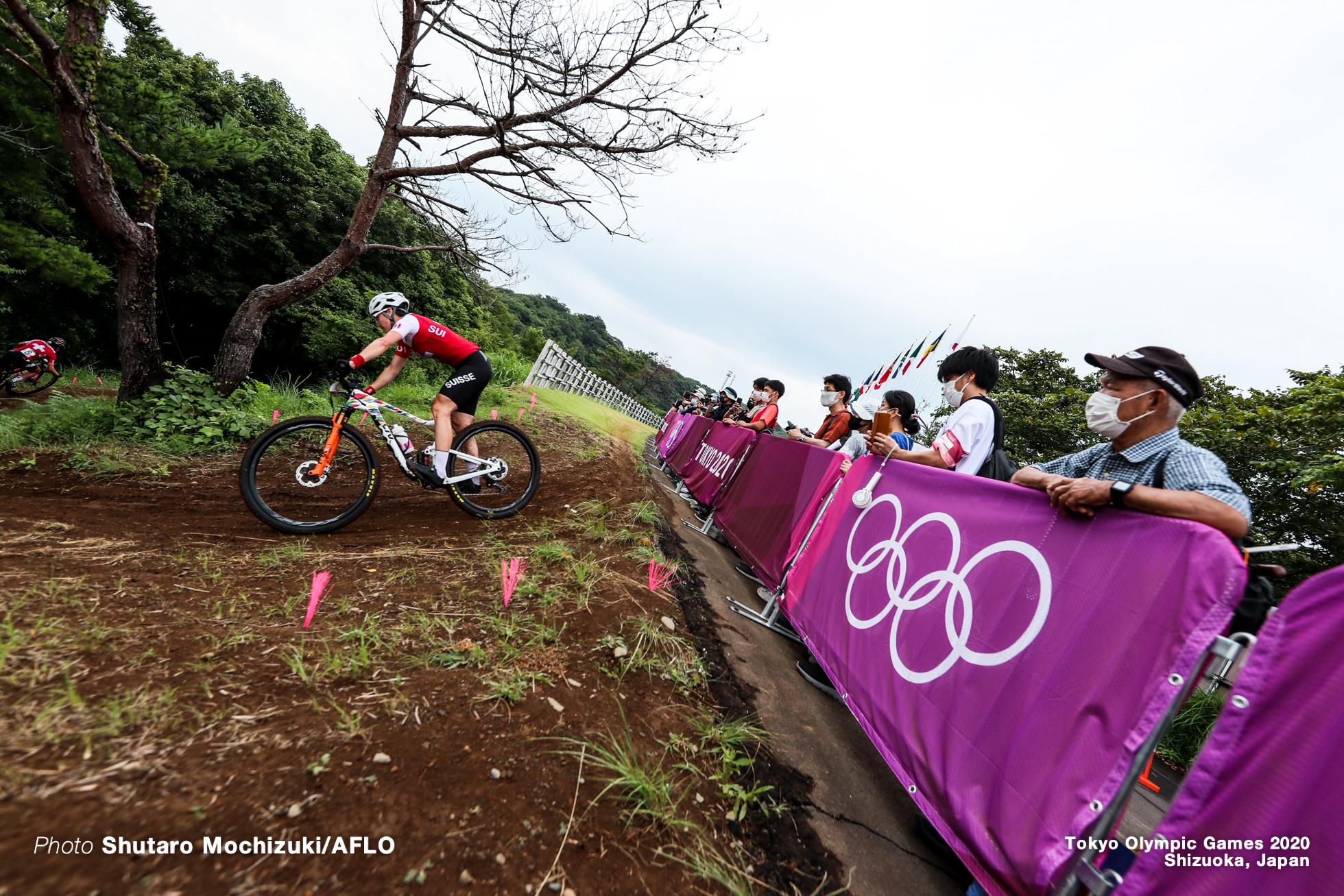 リンダ・インデルガンド Linda Indergand(SUI) ,JULY 27, 2021 - Cycling : Women's Cross-country during the Tokyo 2020 Olympic Games at the Izu MTB Course in Shizuoka, Japan. (Photo by Shutaro Mochizuki/AFLO)