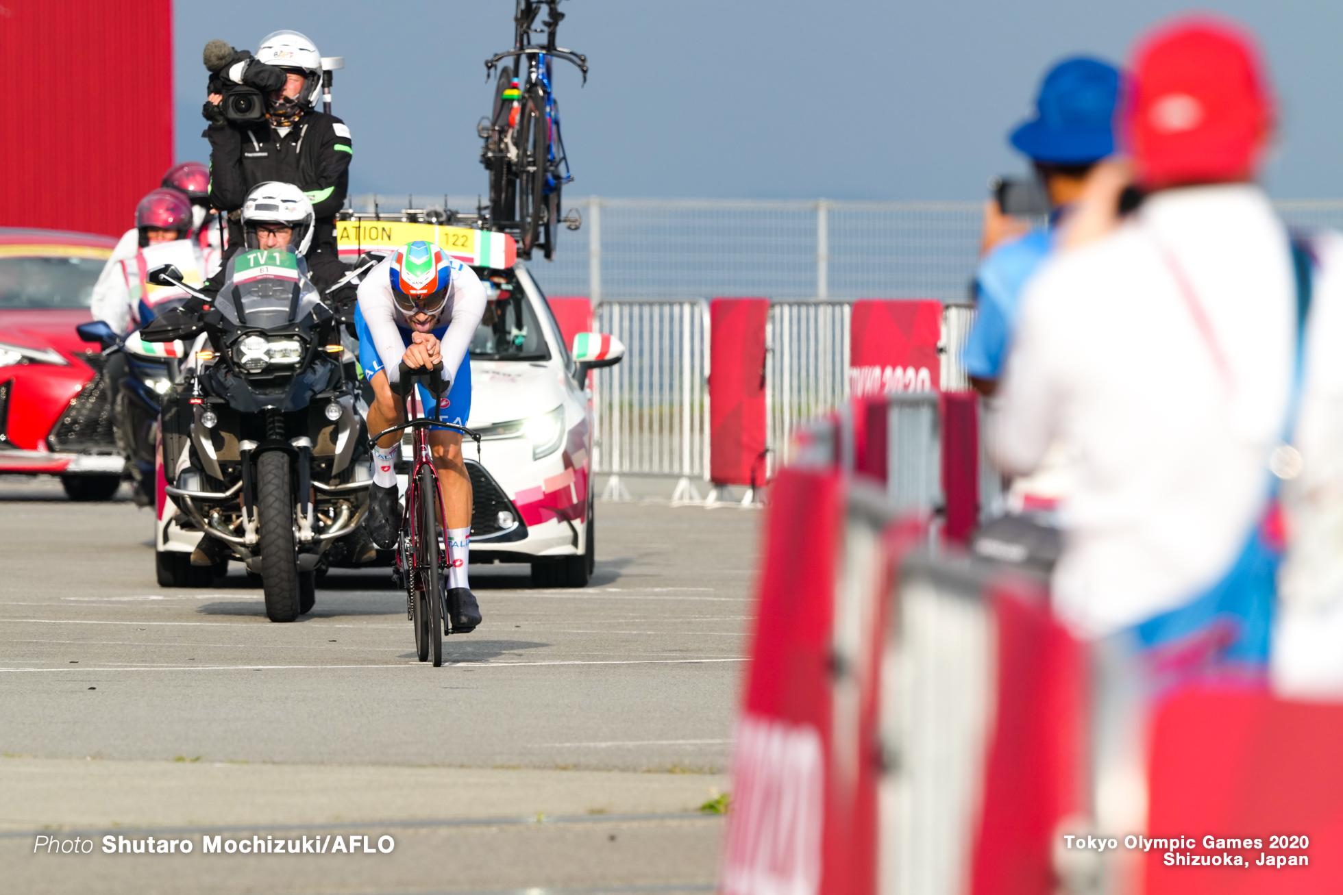 フィリポ・ガンナ Filippo Ganna (ITA), JULY 28, 2021 - Cycling : Men's Individual Time Trial during the Tokyo 2020 Olympic Games at the Izu MTB Course in Shizuoka, Japan. (Photo by Shutaro Mochizuki/AFLO)
