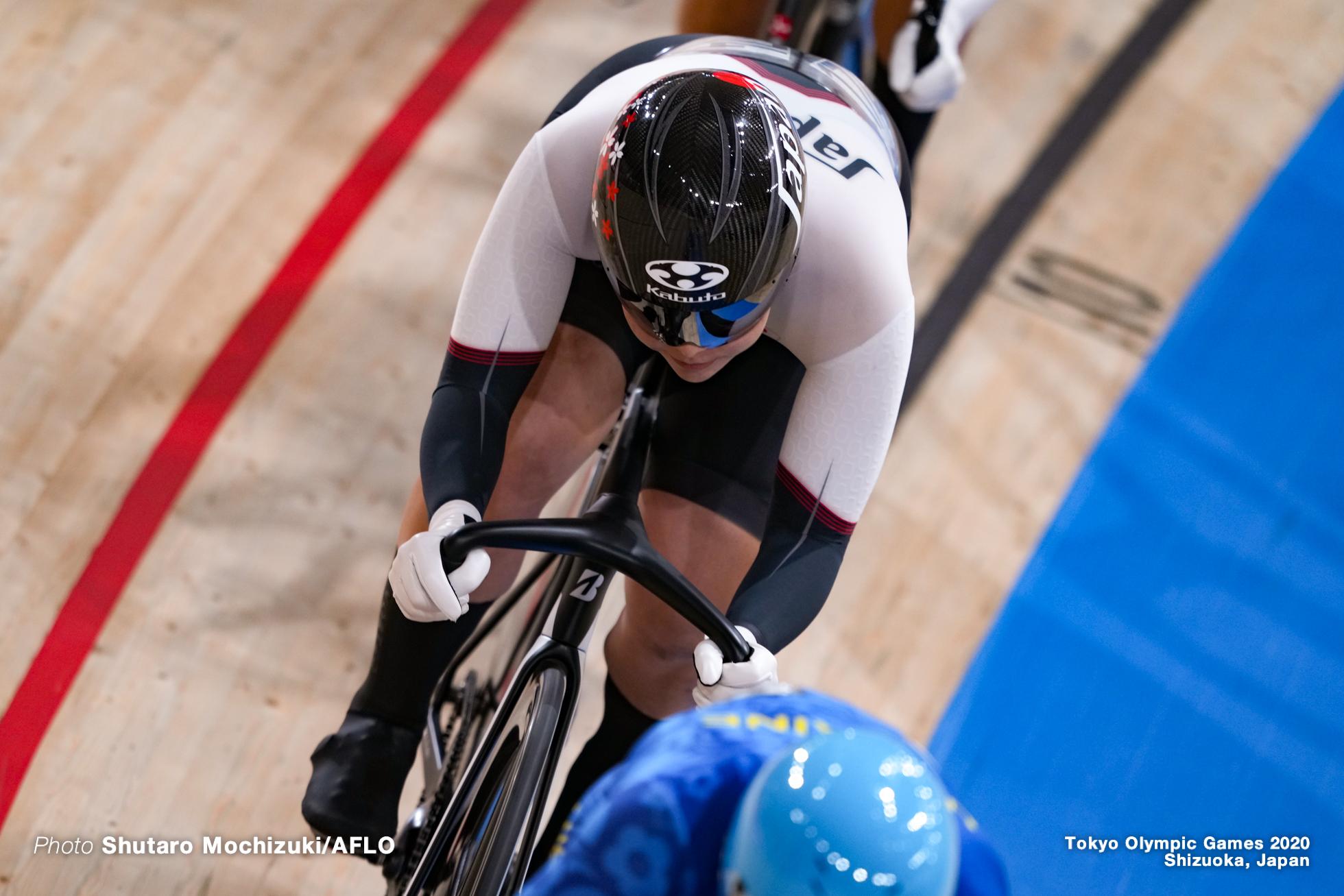 小林優香 Yuka Kobayashi (JPN), Women's Keirin Quarter-Final AUGUST 5, 2021 - Cycling : during the Tokyo 2020 Olympic Games at the Izu Velodrome in Shizuoka, Japan. (Photo by Shutaro Mochizuki/AFLO)
