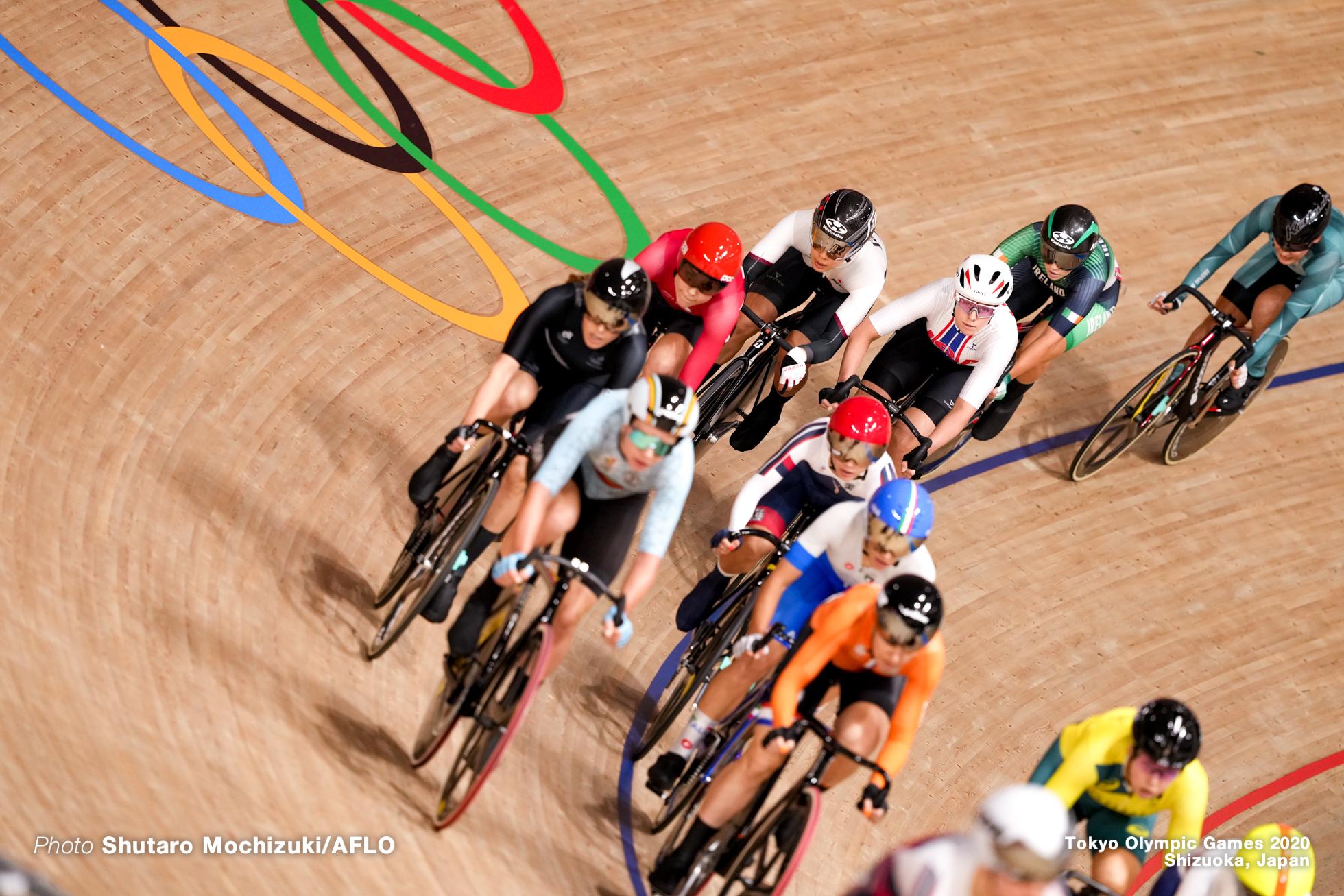 中村妃智 Kisato Nakamura (JPN), Women's Madison AUGUST 6, 2021 - Cycling : during the Tokyo 2020 Olympic Games at the Izu Velodrome in Shizuoka, Japan. (Photo by Shutaro Mochizuki/AFLO)