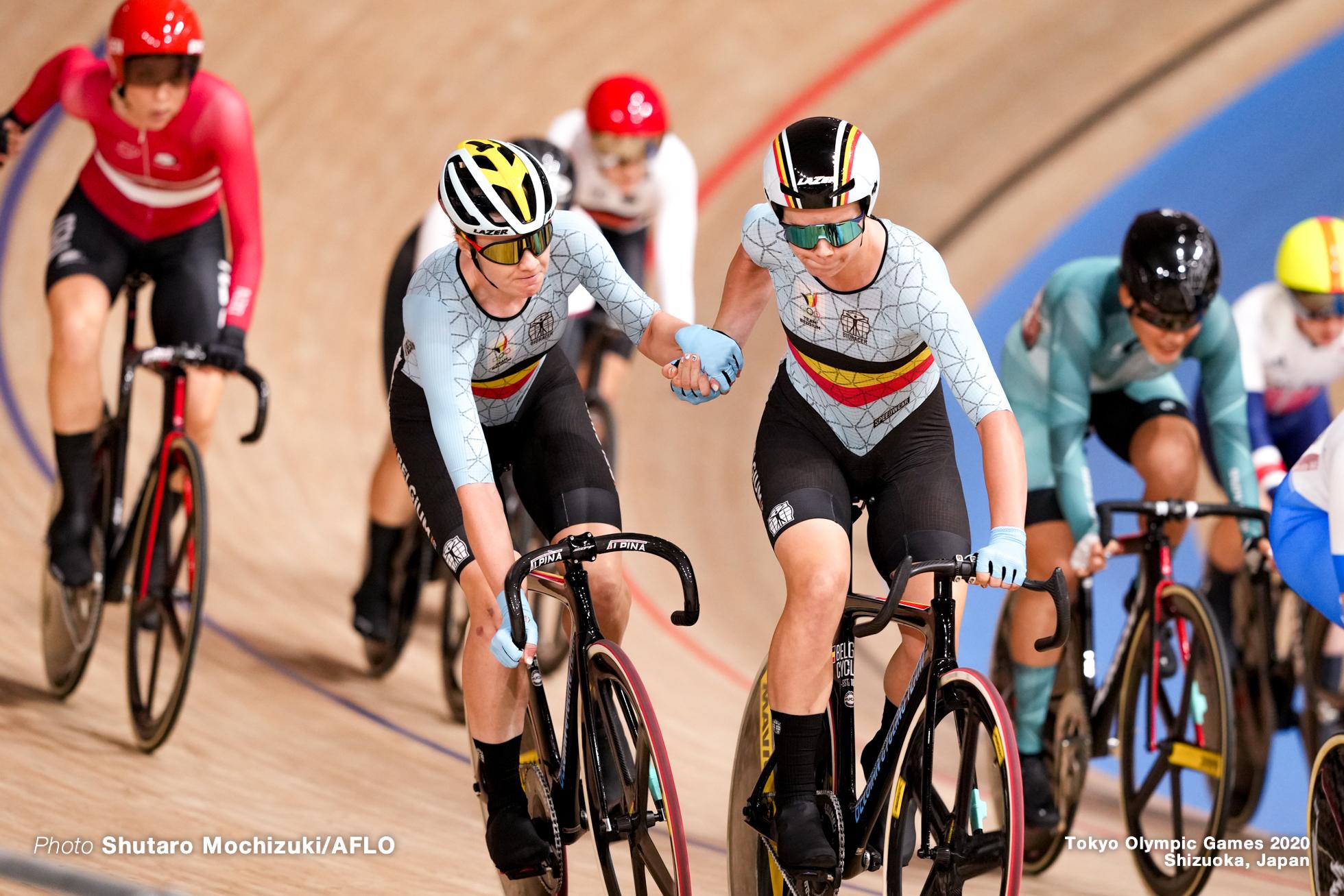 ロッテ・コペツキー Lotte Kopecky (BEL), ジョリエン・ドホール Jolien D'hoore (BEL), Women's Madison AUGUST 6, 2021 - Cycling : during the Tokyo 2020 Olympic Games at the Izu Velodrome in Shizuoka, Japan. (Photo by Shutaro Mochizuki/AFLO)