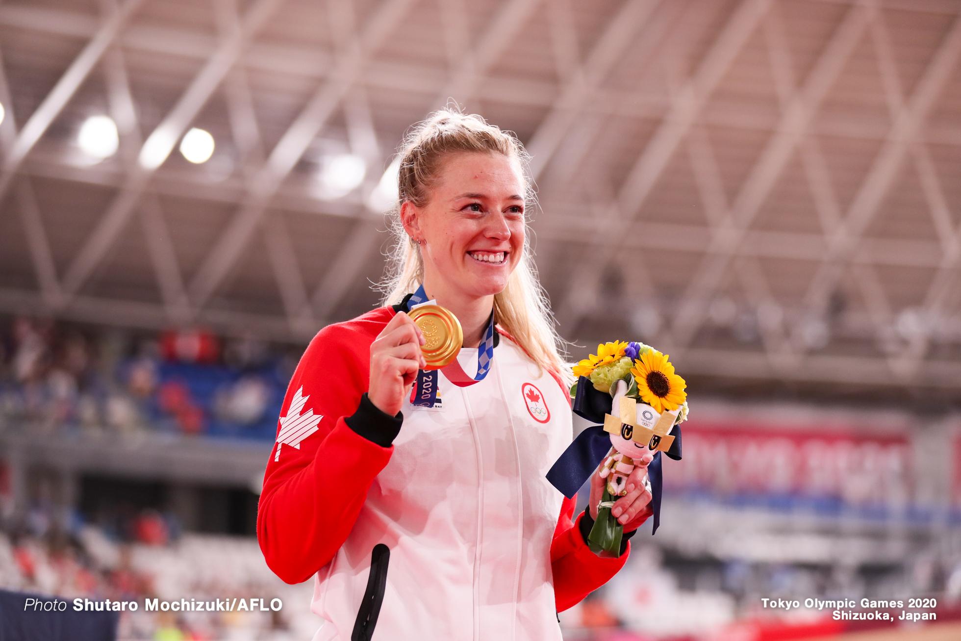 ケルシー・ミシェル Kelsey Mitchell (CAN), Women's Sprint Final AUGUST 8, 2021 - Cycling : during the Tokyo 2020 Olympic Games at the Izu Velodrome in Shizuoka, Japan. (Photo by Shutaro Mochizuki/AFLO)
