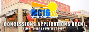 MC16 Concessions Stalls applications are open! Apply online for a spot