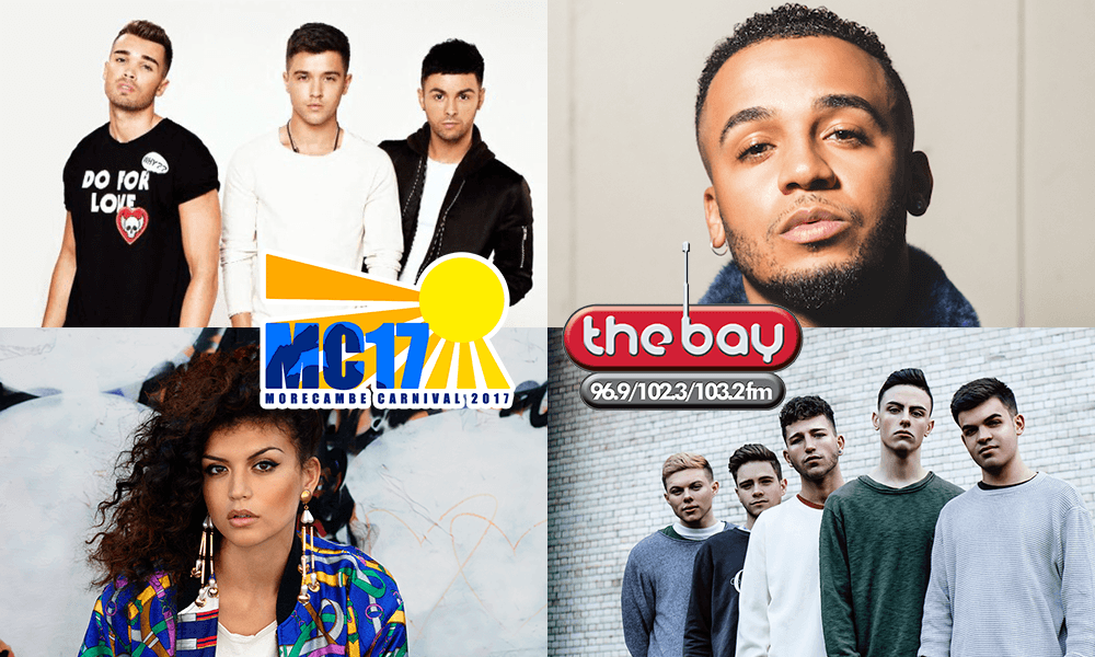 Morecambe Carnival 2017 - The Bay Stage Show - Union J - Aston Merrygold - Karen Harding - Yes Lad