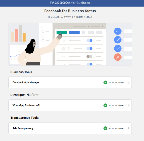 Facebook for Business Status