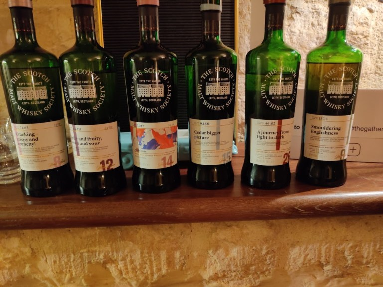 Lineup of the tasting
