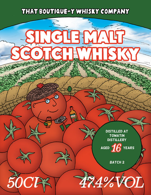 Tomatin batch 2 TBWC's label, couldn't find batch 4's one.