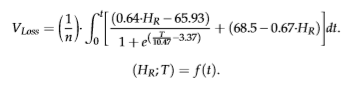 The Boltzmann equation to measure the volume loss.
