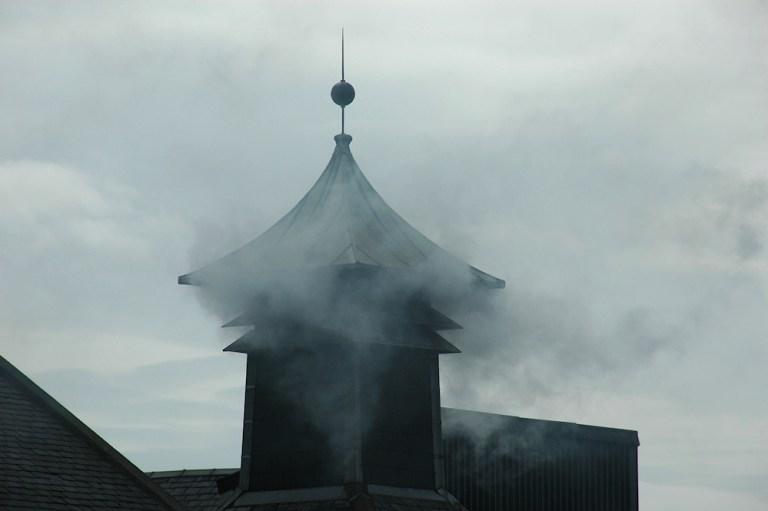 Smoking Kiln Pagoda at Laphroaig Distillery