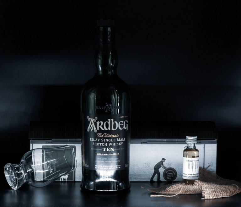 The classic and essential Ardbeg Ten with its new little brother, the 5yo Wee Beastie.