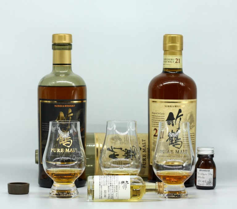 Old and new Nikka Taketsuru NAS and 21-years-old