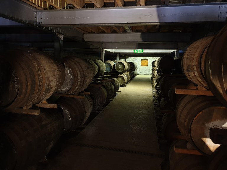 Inside Aberlour's Warehouse No. 1
