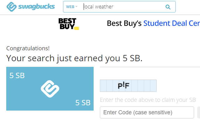 Earn more at Swagbucks by searching