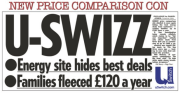 Price comparison site uSwitch hiding best deals - costing £120 per year