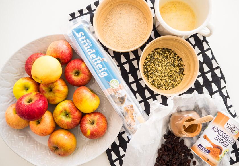 Herbst-Aktivitäten-mit-Kindern-Apfelstrudel-Zutaten