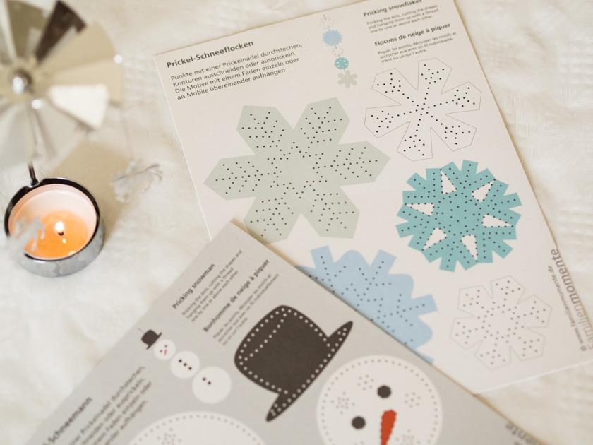 DIY Weihnachtskarten mit Fingerabdruck Prickel Set