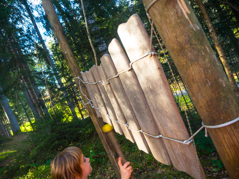 Familienurlaub am Bauernhof Waldglockenspiel