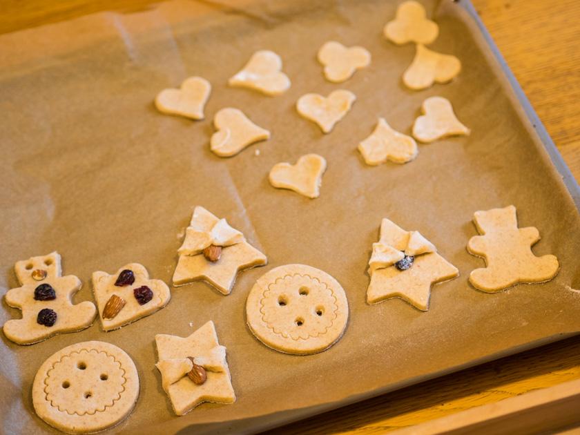 Gesunde Clean Eating Kekse - Kekse auf Backblech