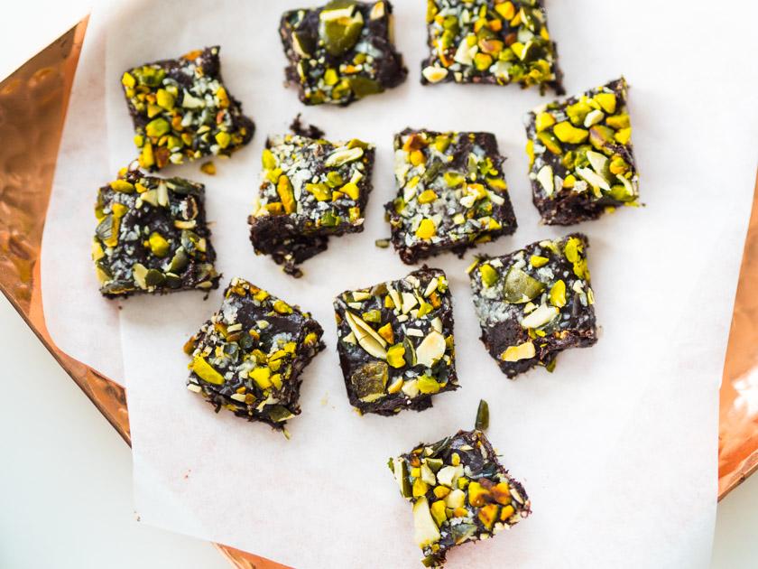 Gesunde Clean Eating Kekse - Schoko Fudge mit Fleur de Sel