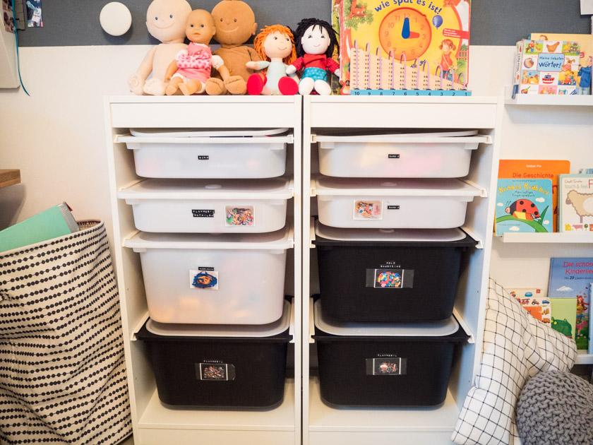 Ordnung im Kinderzimmer - Aufbewahrungssystem Spielzeug