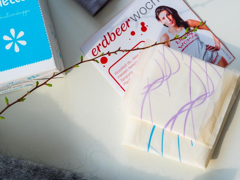 Wäsche für Mamas & Frauenhygiene_Bio Damenbinden und Erdbeerwoche
