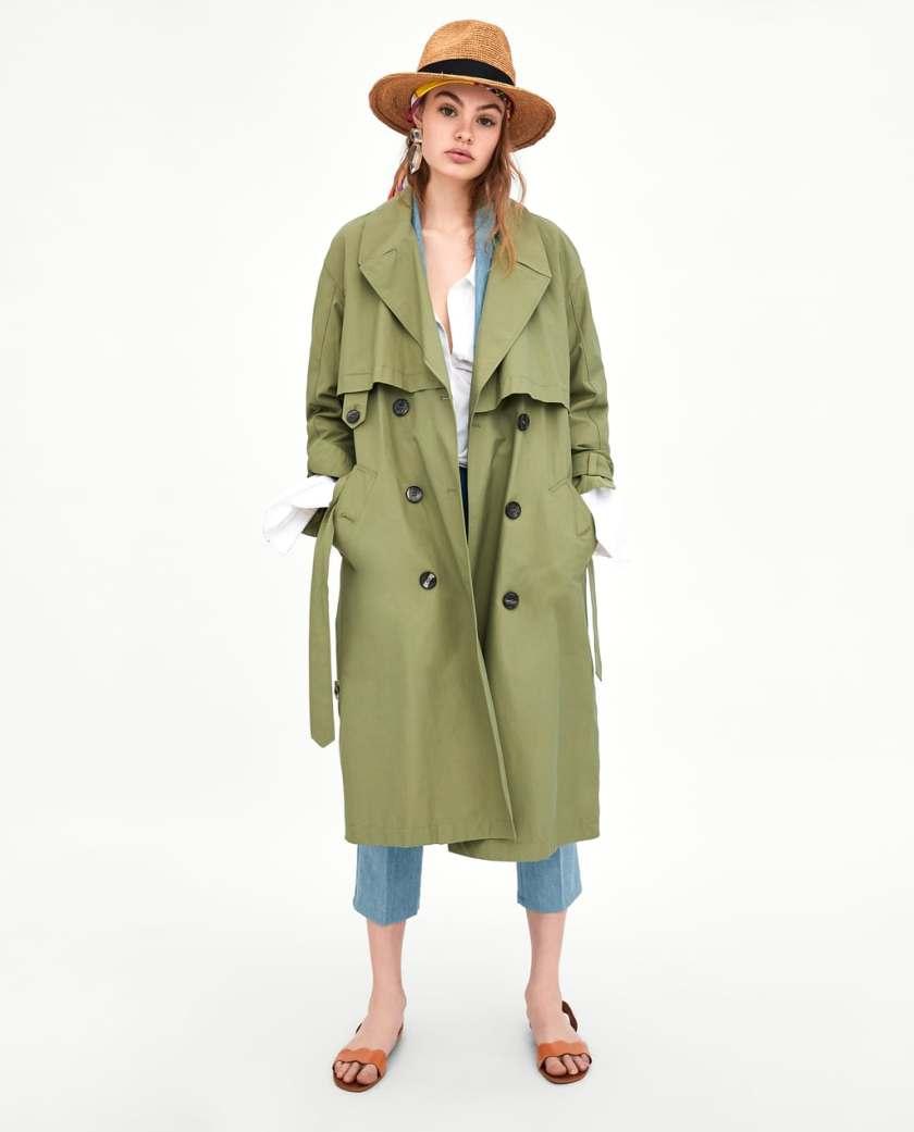 Mama Style Inspiration_Zara Trenchcoat grün