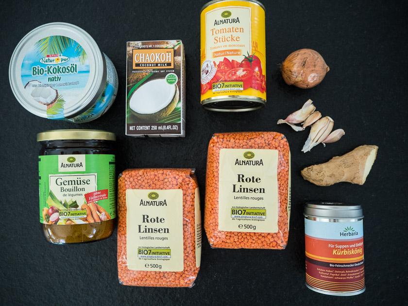 Meal Prep für Familien_Zutaten Linsenbolognese
